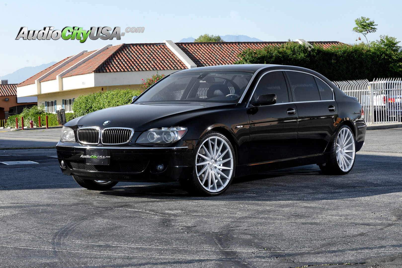 BMW 750 Staggered Rims Varro VD15 Silver Wheels
