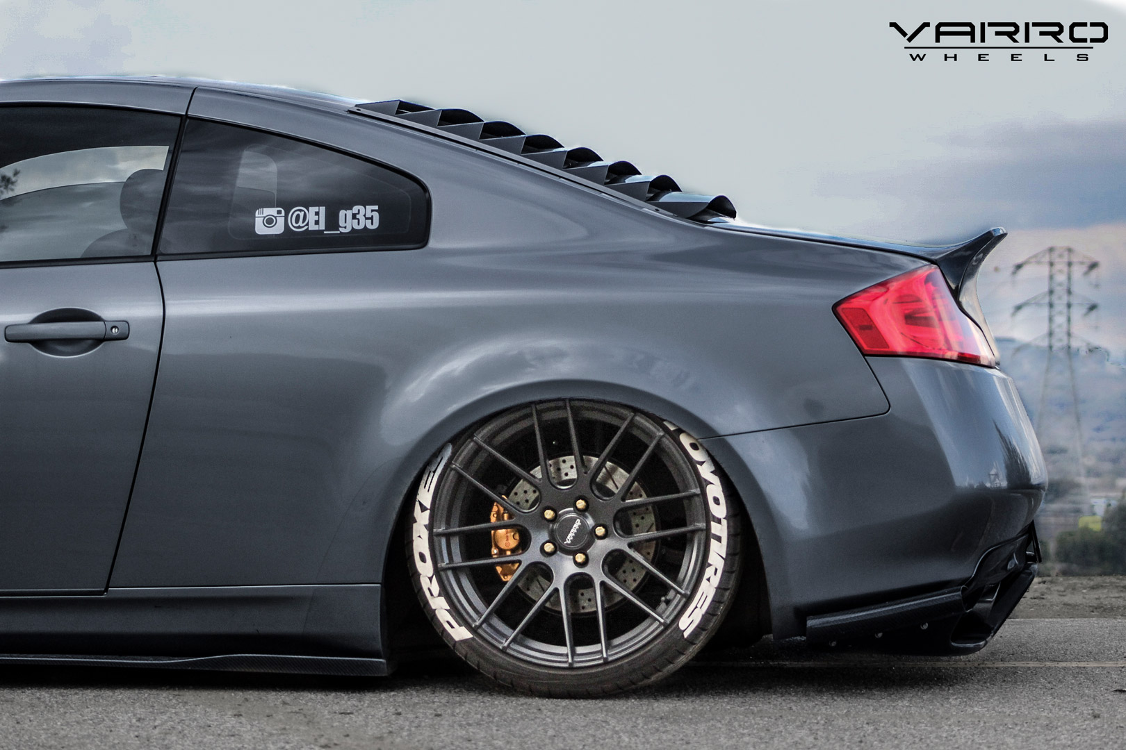 Infiniti G35 Staggered Wheels Varro VD08 20 inch Black Rims