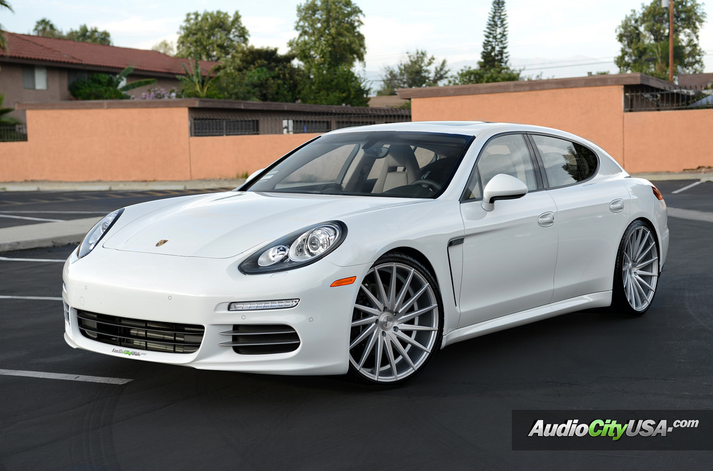 Porsche Panamera Wheels - Varro VD15 Rims Silver Brushed Face Staggered 22x9 22x10.5