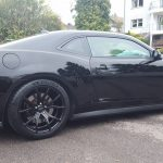 Camaro ZL1 Black 20 inch Rims Varro VD01 Staggered Wheels