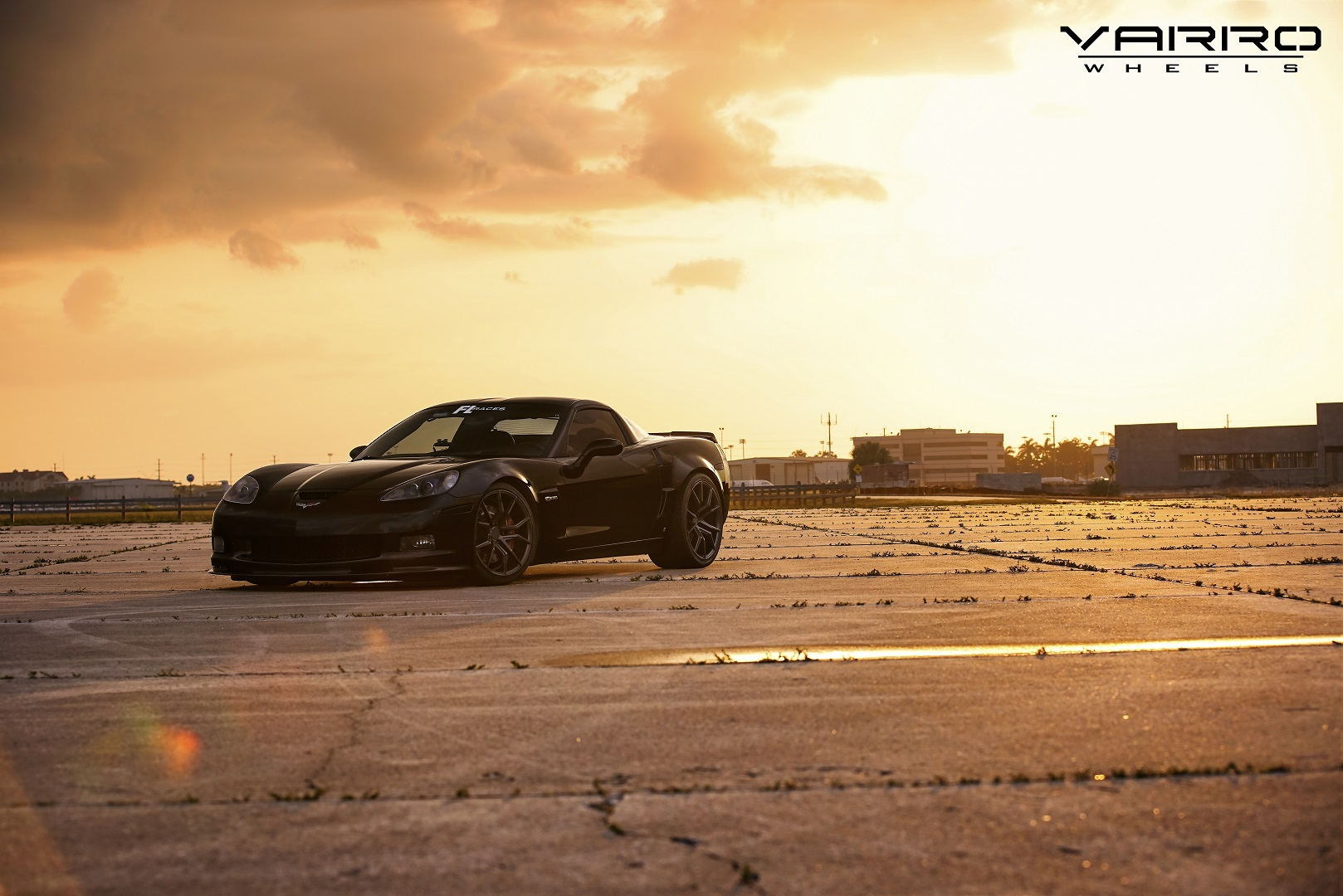 Corvette C6 Z06 Black Rims Varro Staggered VD19 Wheels