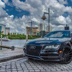 Audi S7 22 inch black rims Varro VD15 Concave Staggered Rims