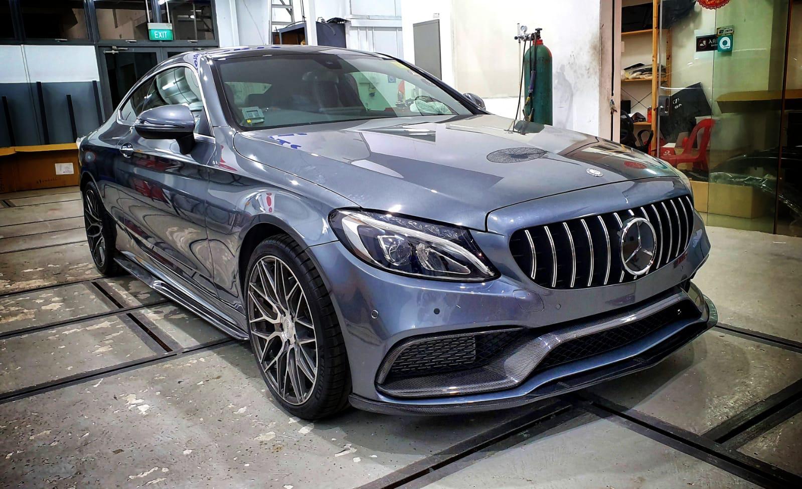 Mercedes Benz S Coupe Rims Varro VD06X Flow Form Wheels Titanium Staggered