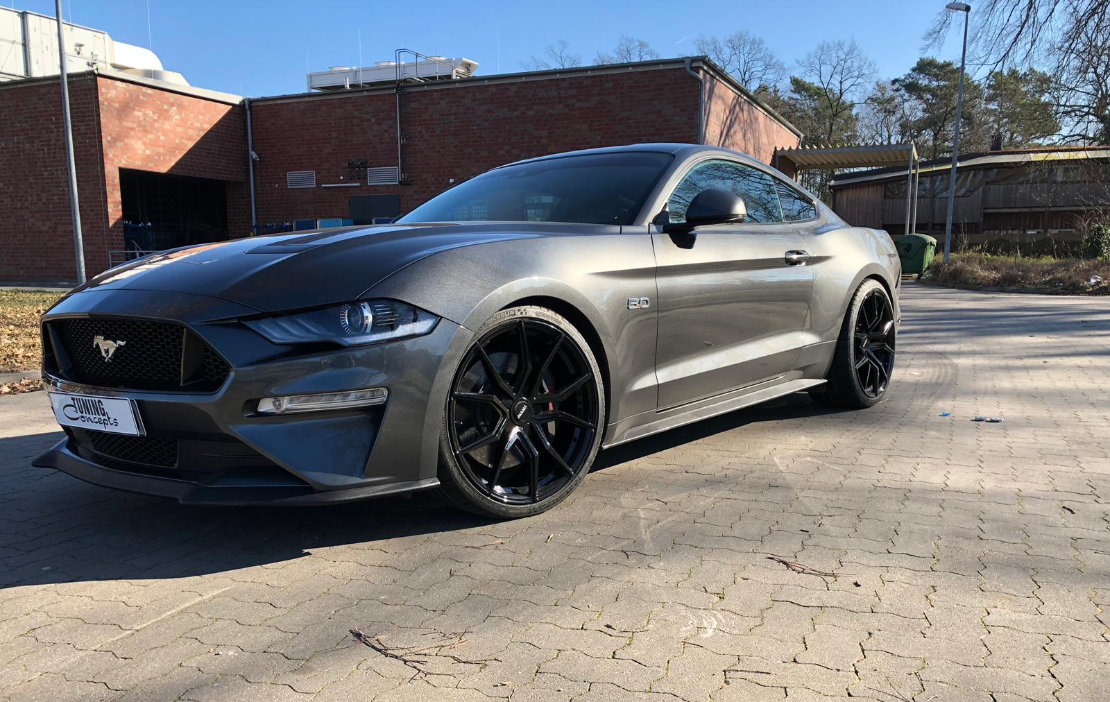Ford Mustang Black Rims Varro VD19 Concave Wheels