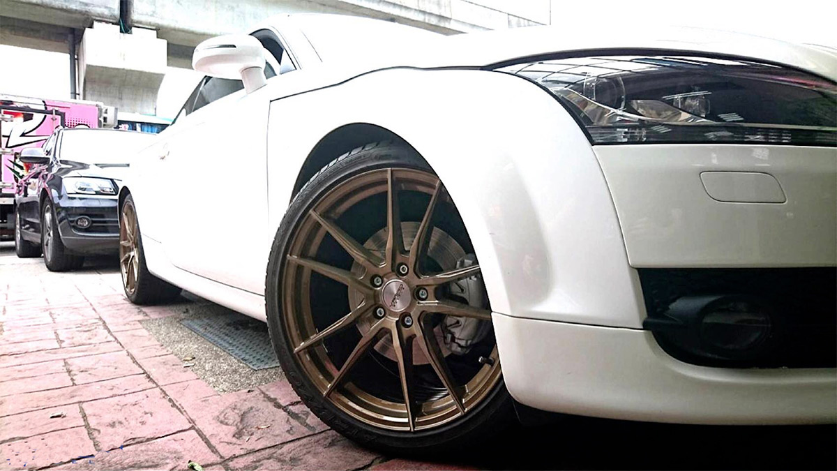 Audi TT Rims Varro Wheels Vd18X spin forged bronze staggered-19-inch