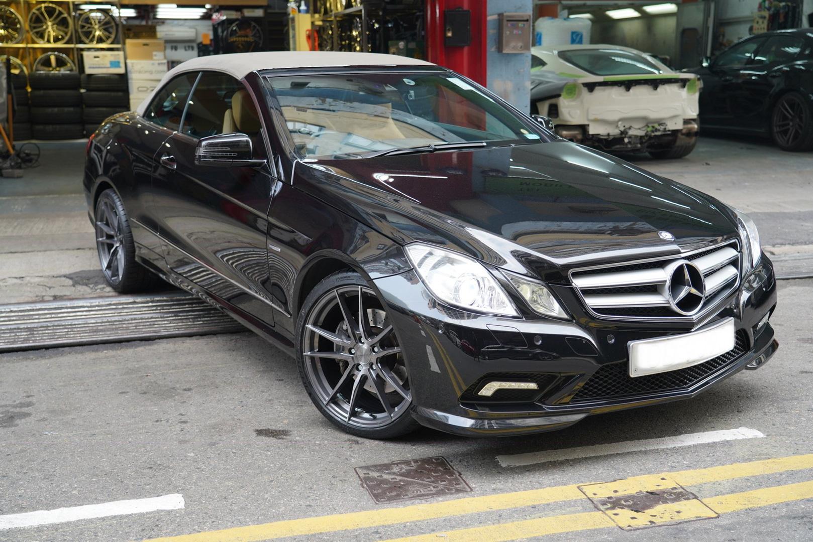Mercedes E350 Rims Varro VD18X Spin Forged Wheels