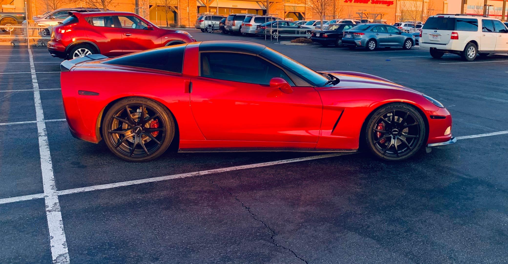 Chevy Corvette Rims Varro VD01 Wheels Black Staggered